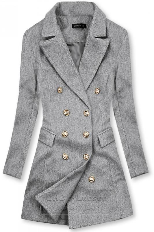 Elegancki płaszcz jesienny szary
