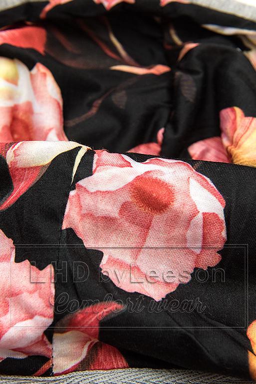 Bluza w pasy szara/morelowa/czarna
