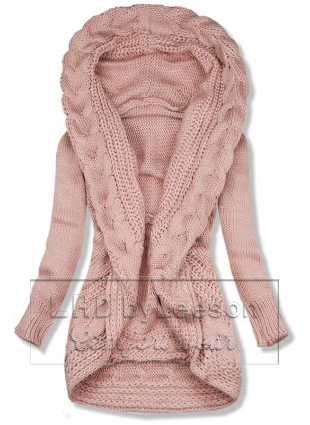 Różowy dzianinowy sweter
