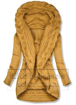 Żółty dzianinowy sweter