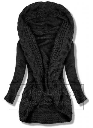 Czarny dzianinowy sweter