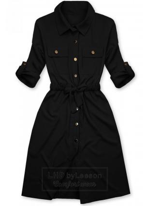 Czarna koszulowa sukienka
