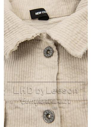 Kremowa sztruksowa koszula wierzchnia