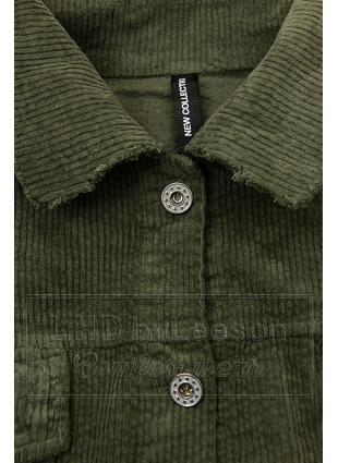 Khaki sztruksowa koszula wierzchnia