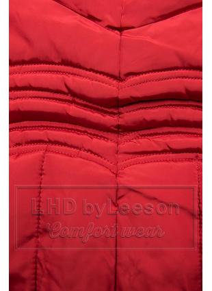 Czerwona kurtka zimowa FASHION