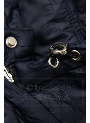Granatowa pikowana kurtka na sezon przejściowy