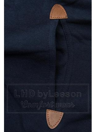 Granatowa długa bluza z kapturem