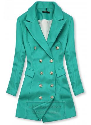 Elegancki płaszcz jesienny zielony