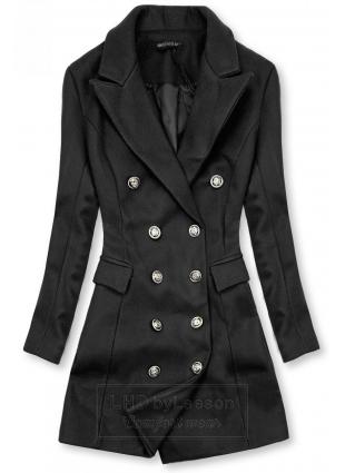 Elegancki płaszcz jesienny czarny