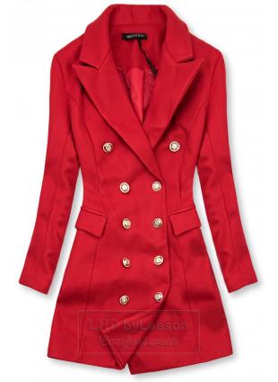 Elegancki płaszcz jesienny czerwony