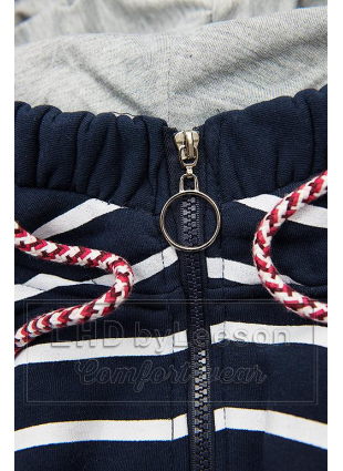 Prążkowana bluza granatowa