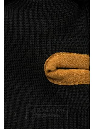 Prążkowana bluza czarna