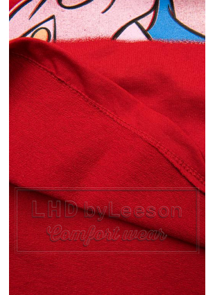Czerwona koszulka Paperina e Paperino