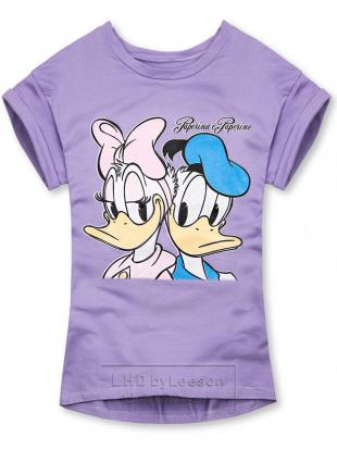 Fioletowa koszulka Paperina e Paperino