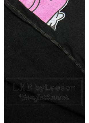Czarna koszulka z nadrukiem w motywie myszki