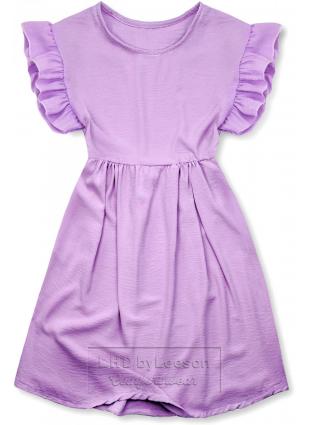 Fioletowa letnia sukienka z wiskozy