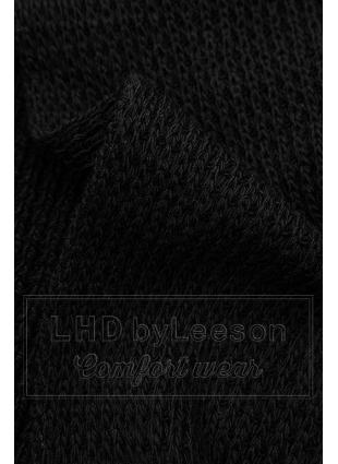 Czarny asymetryczny dzianinowy kardigan