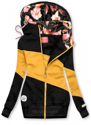 Bluza w pasy czarna/żółta