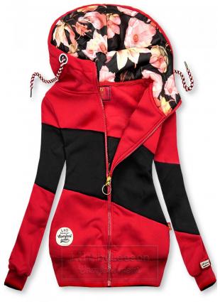 Bluza w pasy czerwona/czarna