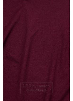 Bordowa bluzka z długimi rękawami