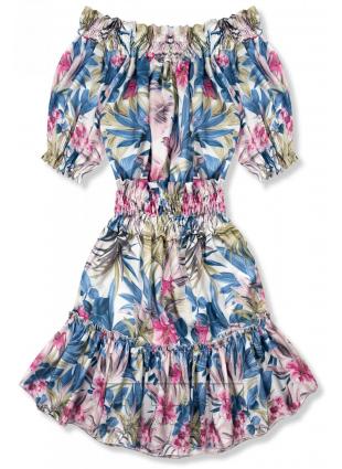 Niebiesko-różowa sukienka Serena/O'la Voga