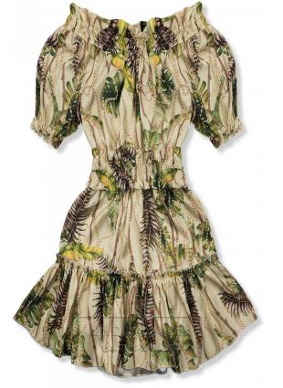 Beżowo-żółta sukienka Serena/O'la Voga