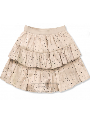 Beżowa spódnica w kropki