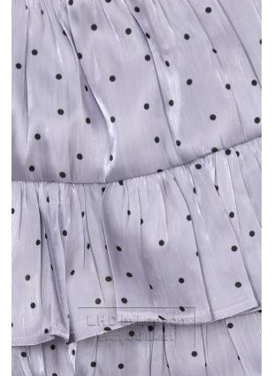 Lila spódnica w kropki