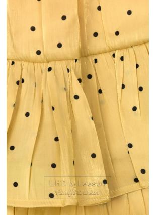 Żółta spódnica w kropki