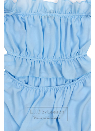 Baby blue letnia długa sukienka