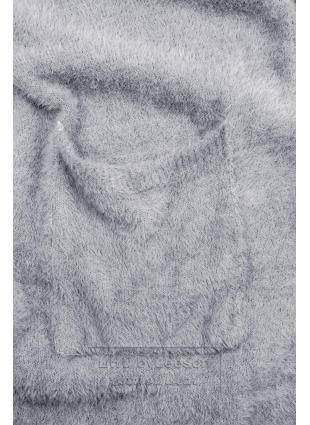 Szaroniebieski długi kardigan