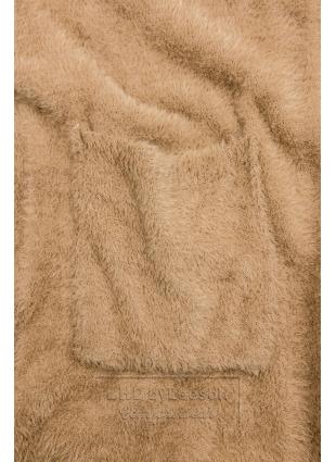 Camel brązowy długi kardigan