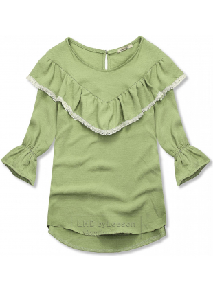 Zielona bluzka z falbanką