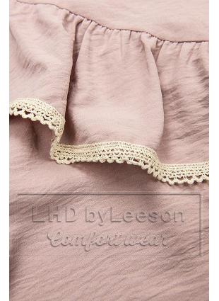 Różowa bluzka z falbanką